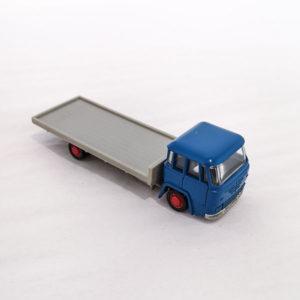 Schuco Büssing Pritschenwagen flatbed truck, blue and grey, 1:90 scale, 311-903