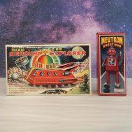 Boxes for Mercury Space Explorer and Neutron Man