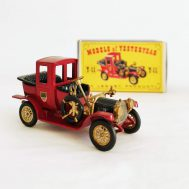 This diecast 1912 Packard Landaulet model was manufactured in England by Lesney Products c. 1960, as part of the Models of Yesteryear line.