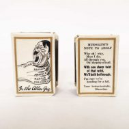 Anti-Axis Matchbox Holder. Made in England c.1940-1945. ID#4562