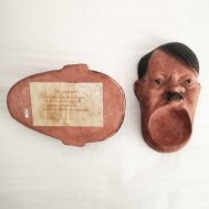 Hitler Ashtray. Clay, made in the USA, c.1940-1944.