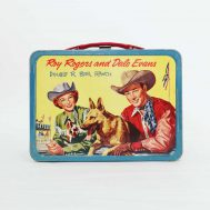 Roy Rogers and Dale Evans Lunchbox. Manufactured by The American Thermos Bottle Co. Made in USA, 1953. ID#60