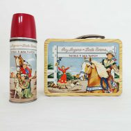 Roy Rogers Lunchbox and Thermos. Manufactured by The American Thermos Bottle Co. Made in USA, 1953. ID#1805/961