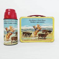 Roy Rogers Lunchbox and Thermos. Manufactured by The American Thermos Bottle Co. Made in USA, 1953. ID#3132/2407