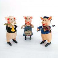 Schuco Walt Disney Windup Piggies.  Made in Germany, c. 1934.