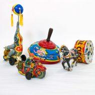 Assorted Tin-Litho Toys