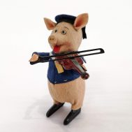 Schuco Walt Disney Windup Piggy with Fiddle. Made in Germany, c. 1934.
