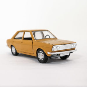 Vintage Schuco Diecast Audi 80 LS, orchre, 1:43 scale, model 301-610.
