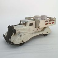 """Marx Dairy Truck. Made in the USA, c. 1950. 9.8"""" long. ID#604"""