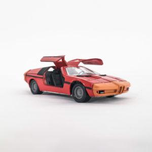 Vintage Schuco Diecast BMW Turbo, orange, 1:43 scale, model 301-613.