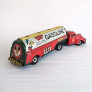 """Donald Duck Gasoline Truck. Tin-litho. Manufactured by Marx. Made in USA, c. 1950. 12"""" long. ID#3061"""