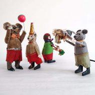 Assorted Antique Schuco Windup Figures.