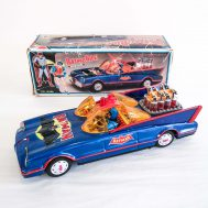 """Batmobile. Manufactured by ROC. Made in Taiwan. 12"""" long. ID#3481"""