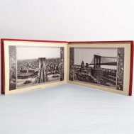 Souvenir of New York Book. Illustrations of Brooklyn Bridge.  Made in USA, c. 1940. ID#161