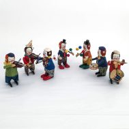 Assorted Schuco Windup Clowns. Made in Germany c. 1930.