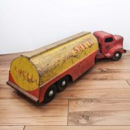 """Minnitoy Shell Tanker. Manufactured by Otaco. Made in Orillia, Ontario Canada, c. 1950. 28"""" long."""