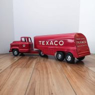 """Buddy L Texaco Tanker Truck. Made in the USA, c. 1959. 23.5"""" long. ID#2726"""
