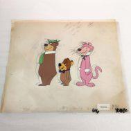 "Yogi Bear and Pink Panther Animation Cel. Created by Hann-Barbera Studios, c. 1970. 11x15"". ID#2112"
