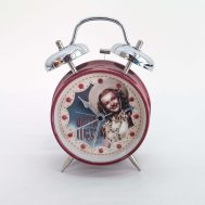 """Queen of the West Dale Evans Alarm Clock.  Made in China, c. 2000. 7"""" tall. ID#2017.13.12"""