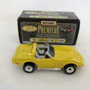 Matchbox Premiere Collection Diecast Model 78 Corvette T-Top