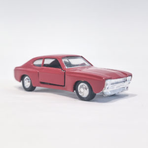 Vintage Miniaturas REI Diecast Ford Capri Rally RS. Red, 1:66 scale, model 6877.