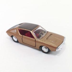Vintage Miniaturas REI Diecast Renault R17 TS. 1:66 scale, model 1861. Copper color w/ dark grey roof